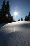 Paisaje del invierno en Rumania Imagenes de archivo