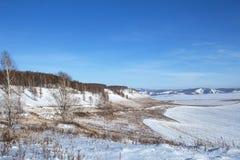 Paisaje del invierno en Siberia Fotos de archivo libres de regalías