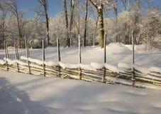 Paisaje del invierno en Suecia Imagenes de archivo