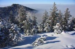 Paisaje del invierno. Estación de esquí Borovets, Bulgaria fotografía de archivo libre de regalías