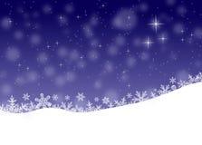 Paisaje del invierno, fondo de la Navidad Foto de archivo libre de regalías