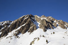 Paisaje del invierno, Francia Fotografía de archivo