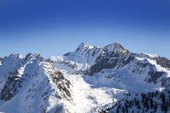 Paisaje del invierno, Francia Foto de archivo