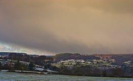 Paisaje del invierno, Inglaterra. Imagen de archivo