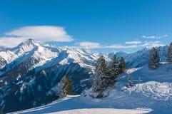 Paisaje del invierno, Mayrhofen Imagen de archivo
