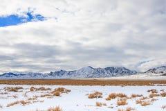 Paisaje del invierno, Nevada Imagen de archivo