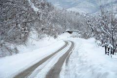 Paisaje del invierno Nevado Foto de archivo libre de regalías