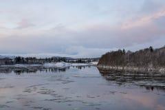 Paisaje del invierno, Noruega foto de archivo