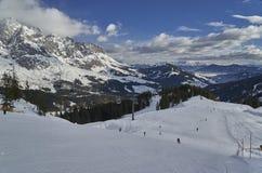Paisaje del invierno, región de Hochkönig, Austria fotografía de archivo libre de regalías