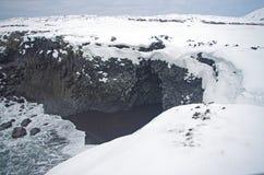 Paisaje del invierno del ` s de Islandia Foto de archivo libre de regalías