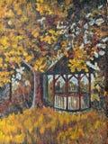 Paisaje del jardín del otoño Fotografía de archivo libre de regalías