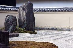 Paisaje del jardín del zen. Imagen de archivo