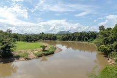 Paisaje del kwai Noi del río Imagen de archivo