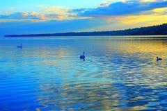 Paisaje del lago fotos de archivo