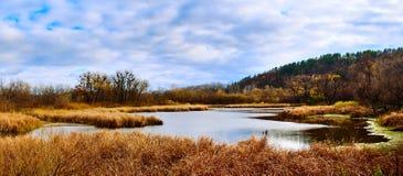 Paisaje del lago autumn Foto de archivo libre de regalías