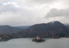 Paisaje del lago Bled imagen de archivo