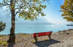 Paisaje del lago Brienz, Suiza imágenes de archivo libres de regalías
