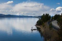 Paisaje del lago CDA Imagen de archivo libre de regalías