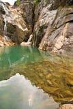 Paisaje del lago claro Imagenes de archivo