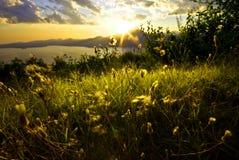 Paisaje del lago Garda Fotos de archivo