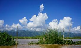 Paisaje del lago Inle, Myanmar imágenes de archivo libres de regalías