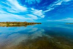Paisaje del lago Kinneret - mar de Galilea Imágenes de archivo libres de regalías
