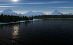 Paisaje del lago mountain libre illustration
