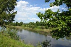 Paisaje del lago summer fotos de archivo libres de regalías