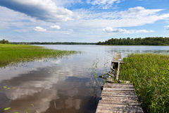 Paisaje del lago summer's fotografía de archivo