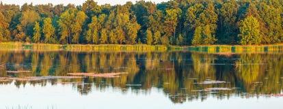 Paisaje del lago del verano de la tarde Foto de archivo libre de regalías