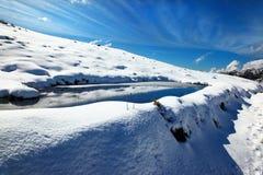 Paisaje del lago winter foto de archivo