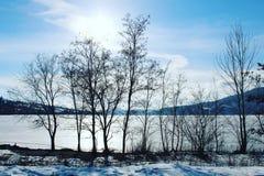 Paisaje del lago winter Fotografía de archivo libre de regalías
