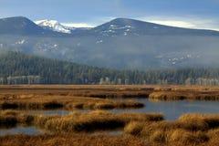 Paisaje del lago y del yermo de montaña fotografía de archivo