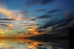 Paisaje del mar Imagen de archivo libre de regalías