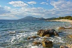 Paisaje del mar adriático Fotografía de archivo