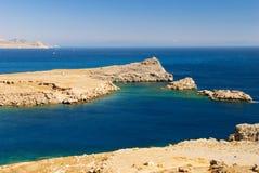 Paisaje del mar con la península Imagen de archivo libre de regalías