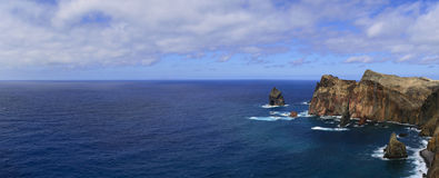 Paisaje del mar de Madeira Imagenes de archivo