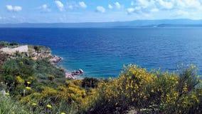 Paisaje del mar en la isla fotografía de archivo