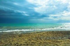 Paisaje del mar del invierno en Turquía Fotografía de archivo libre de regalías