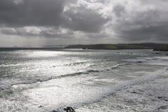 Paisaje del mar irlandés Imagen de archivo libre de regalías