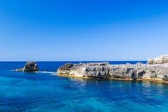 Paisaje del mar Mediterráneo Imágenes de archivo libres de regalías