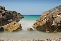 Paisaje del mar Mediterráneo Imagen de archivo libre de regalías