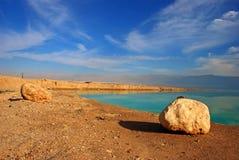 Paisaje del mar muerto Fotografía de archivo