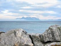 Paisaje del mar tranquilo fotos de archivo