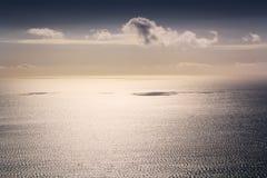 Paisaje del mar tranquilo Fotos de archivo libres de regalías