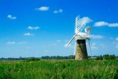 Paisaje del molino de viento Fotografía de archivo libre de regalías