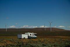 Paisaje del molino de viento de rv foto de archivo libre de regalías