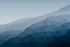 Paisaje del montaje en estilo poligonal Ilustración del vector stock de ilustración