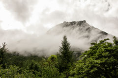 Paisaje del Mt Siguniang en Sichuan, China Imagen de archivo