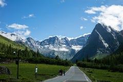 Paisaje del Mt Siguniang en Sichuan, China Foto de archivo